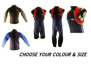 MENS BLUE RUSH LONG OR SHORT JOHN 3MM WETSUIT OR JACKET