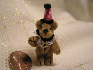 World of Miniature Bears ~ Micro Mini Bear BOZO Clown