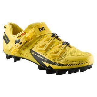 Fury mountain MTB bike cycling bicycle shoe 8 411/3 new yellow