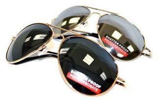 Military Oversize Large Mirror Lens Aviator Sunglasses 65mm x 50mm