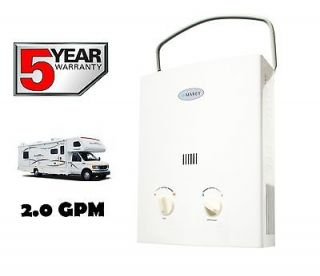 TANKLESS WATER HEATER LPG PROPANE GAS 2.0 GPM PORTABLE HOT WATER ON