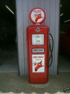 VINTAGE GILBARCO TEXACO FIRE CHIEF GAS PUMP VERY NICE
