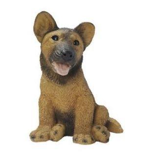 German Shepherd Puppy Dog Statue Home Garden Sculpture