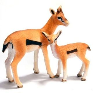 Animal Figurine Wild Life Africa Set/2 14396 & 14397 GAZELLE & FAWN