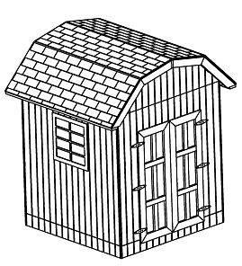 8X8 GAMBREL STORAGE SHED, 26 BACKYARD SHED PLANS, DIY LEARN HOW TO