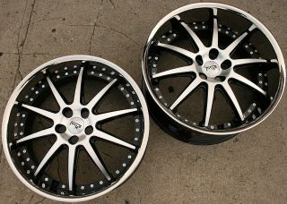 NICHE SPA 22 BLACK RIMS WHEELS NISSAN MAXIMA STAGGERED / 22 X 9.0/10