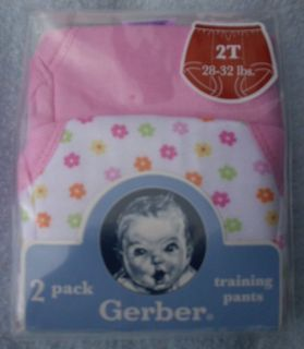 Gerber Girls Pink Cotton Potty Training Pants   2T or 3T