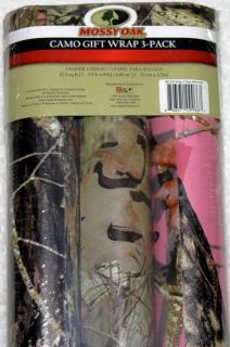 mossy oak wrapping paper Premium gift wrap with gloss finish includes a clear plastic hang loop for convenient merchandising each roll: 22-1/2 sq ft.