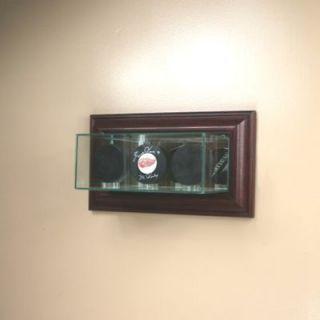 Wall Mounted Triple Hockey Puck Glass Display Case NHL