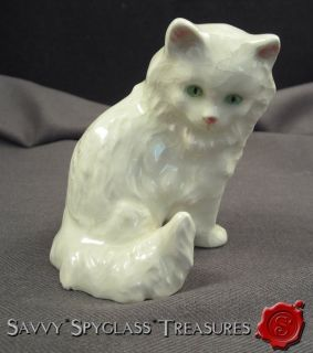 Vintage Goebel West Germany Porcelain White Persian Kitty Cat Figurine