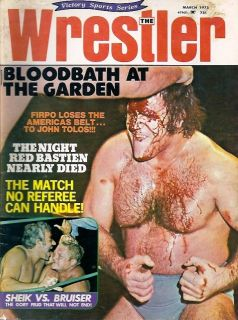 The Wrestler Wrestling magazine 3/75 Vintage WOMEN GIRL GAL BRUNO
