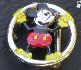 Vintage Walt Disney Productions Original Mickey Mouse Belt Buckle(S