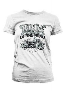 Of The Road Motorcycle Biker Chopper Bike Girls Juniors T shirt Tee