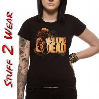 Official THE WALKING DEAD Bicycle Girl T Shirt S M L XL