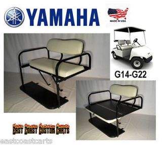 YAMAHA G29 DRIVE Golf Cart Rear Flip Down Seat Kit STONE (FAST FREE