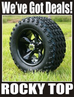 NEW 12x7 Godfather Golf Cart Wheels and All Terrain Tires