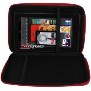 Red Carrying Case Cover Pouch Bag For Nook Tablet/Color, Kindle Fire