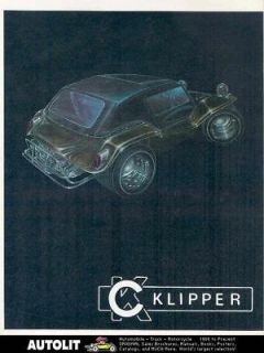 1969 KC Klipper Mod Bod VW Kit Car Dune Buggy Brochure