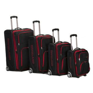 Polo Equipment Olympian 4 piece Expandable Luggage Set   Black