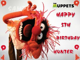 ANIMAL ON THE MUPPETS FROSTING SHEET EDIBLE CAKE TOPPER DECORATIONS