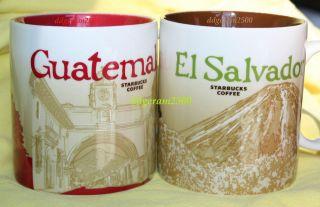 EL SALVADOR + GUATEMALA Global City Series Collectors Coffee Mugs Icon