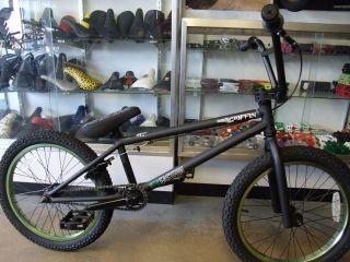 EASTERN BIKES GRIFFIN MATTE BLACK/GREEN 2013 BMX BIKE  2 FREE BMX
