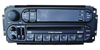DODGE JEEP CHRYSLER Dakota Durango Ram Radio 6 Disc Changer CD Player