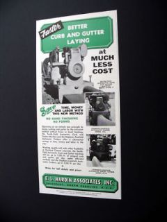 Smith Field Curb & Gutter Laying Machine 1956 print Ad