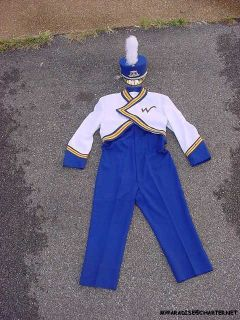 ONLY BLUE & WHITE SCHOOL MARCHING BAND HALLOWEEN COSTUME Sz 30 32
