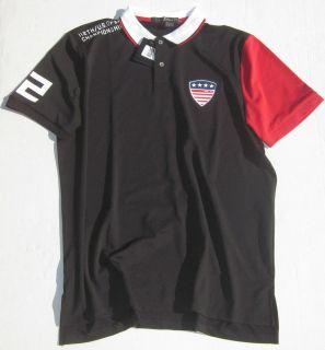 RLX Ralph Lauren Mens US Open Mens S/S Black Polo Shirt $125
