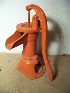 Old Cast Iron Water Well Kitchen Pitcher Hand Pump Painted Red