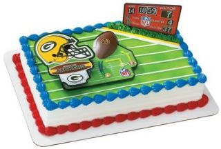 NFL GREEN BAY PACKERS Cake Decorating Kit Decoration Topper Football