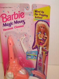 NIB BARBIE DOLL 1994 MAGIC MOVES VACUUM CLEANER ACCESSORIES SET