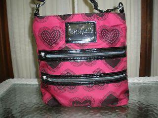 Betsey Johnson Sweet Heart Pink Crossbody Bag Betseyville NWT