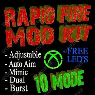 10 Mode MW3 Rapid Fire MOD KIT for Xbox 360 Controller MODDED MW2 GOW3