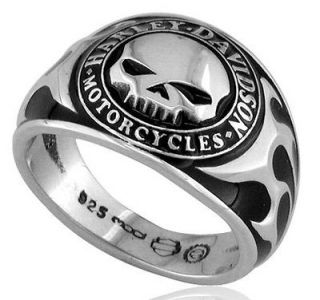 harley davidson willie g skull ring