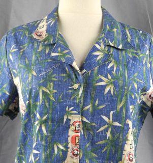 Reverse Print Panda Express Bamboo Woman Hawaiian Shirt MED Kona 07