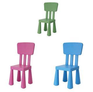 Childrens chair dark pink dark green blue IKEA MAMMUT