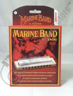 HOHNER Marine Band 1896 Diatonic HARMONICA Key of C 1896BX NEW harp