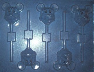 FIVE SMALL MICKEY MOUSE FACE SHAPES CHOCOLATE MOULD OR CHOCOLATE