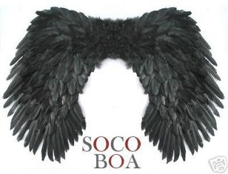 SUPER LARGE Black Feather Angel Wings Photo Props 41x27 men women