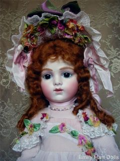 Bru jne 14 Antique Reproduction bisque doll by Emily Hart Vintage Lace