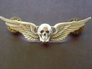 Skull Aviation Attack Helicopter Pilot Aircrew Wing Badge pin insignia
