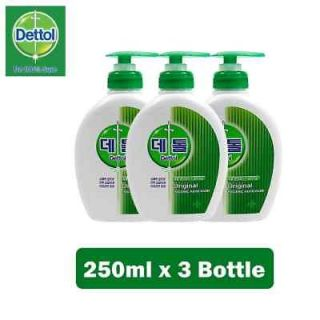 Dettol Original Liquid Hand Wash Antibacterial Soap 3ea