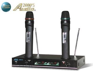 Brand New 2013 AUDIO 2000S AWM 6112 Dual Channel VHF Wireless Mic