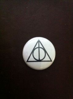 Harry Potter Deathly Hallows Symbol Button OR Magnet Horcrux Snape