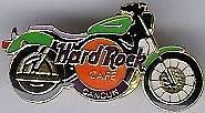 Hard Rock Cafe CANCUN 1998 Mini Green HARLEY Motorcycle Bike PIN