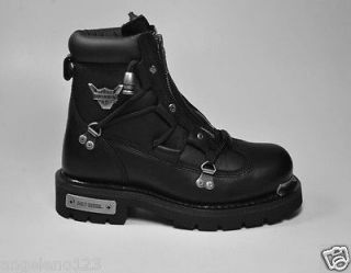 HARLEY DAVIDSON Shoes Brake Light Women Size Black Leather Biker BOOTS