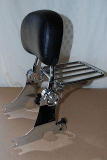 Adjustable N Detachable Backrest Sissy Bar For Harley Sportster 94 03