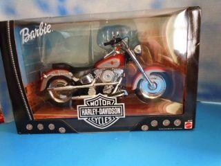 1999 Mattel Harley Davidson Fat Boy Motorcycle NRFB